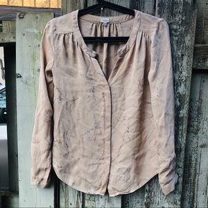 Babaton floral silk blouse s-m read!
